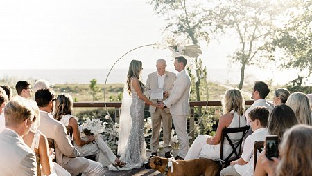 ​Coastal Views and an All-White Dress Code for a Micro Wedding in Hilton Head Island