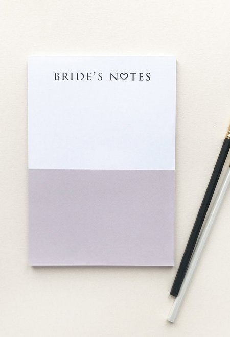 Bride's Notes - Notepads