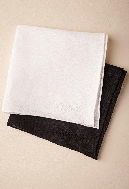 Bride and Groom Handkerchiefs