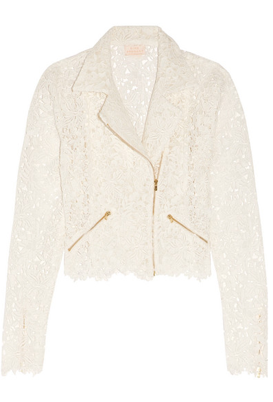 Drew cotton-blend guipure lace jacket