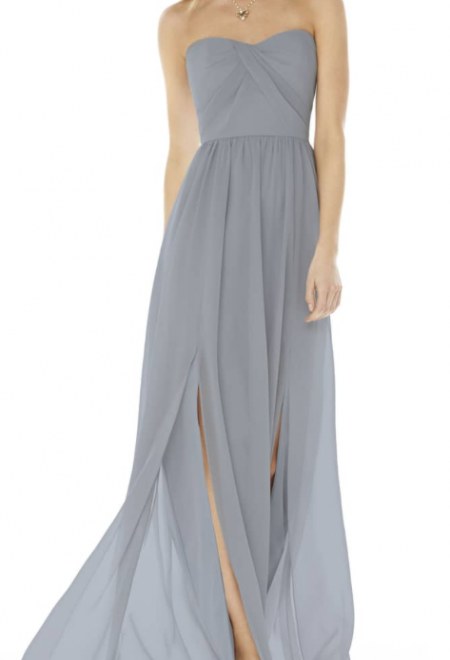 Strapless Georgette Gown