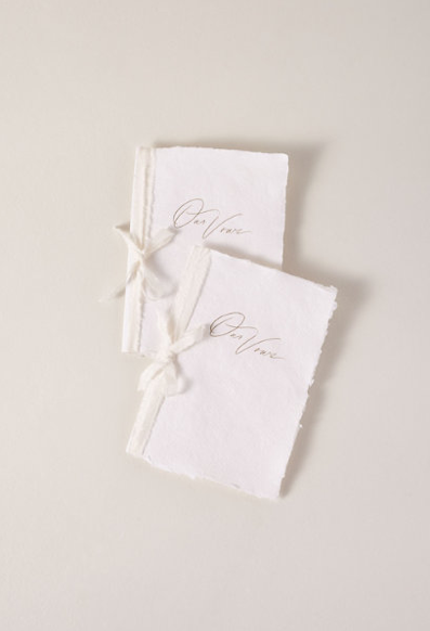 Handmade Paper Vow Journals