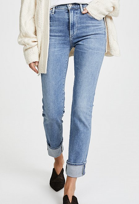 High Rise Cigarette Jeans